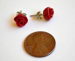Romantic Rose Stud Earrings by yobanda