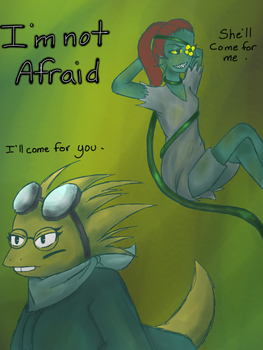 Flower Undyne and Alphys by CaptainZeroInfinite