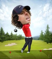 Rory McIlroy Caricature by kevmcgivernart