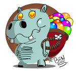 Gummy Hippo by DemoComics