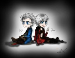 Devil May Cry: Chibi Dante and Vergil by AryaMay