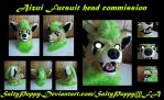 Aizui Fursuit Head Commission by SaltyPuppy