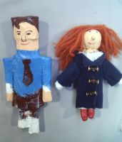 Young Amy Pond Raggedy Doctor and Pond Dolls by RavenMedia