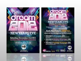 Dream 2012 Flyer by rjartwork