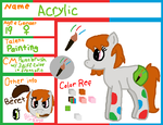 Acrylic Ref -B-Day Gift- by Crazyperson555
