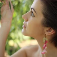 Pink Infusion Earrings by MyMandarinDucky
