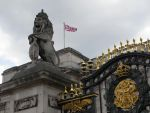 Buckingham Palace lion by DarkMysteryCat