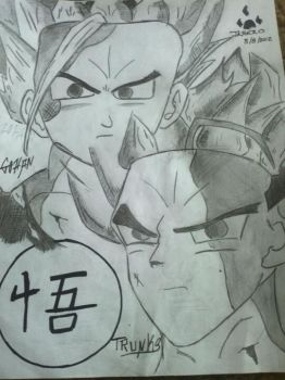 gohan and trunks by Jahero
