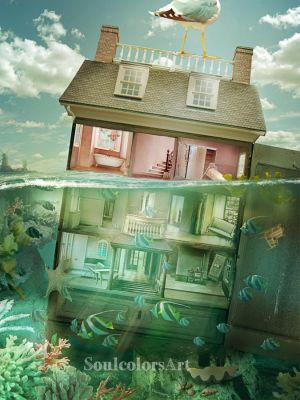 Dolhouse under water by SoulcolorsArt