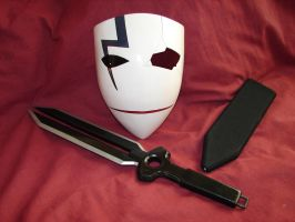 Hei mask and dagger and sheath - broken version 2 by menteausente