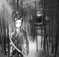 The Samurai In the Bamboo by Twistedcrystal