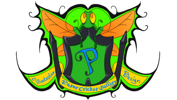 Paper Cricket Gallery Crest-Logo by 0ArmoredSoul0