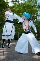 'Held Captive' - Orihime and Grimmjow Cosplay by OxfordCommaCosplay