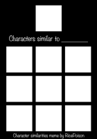 Character Similarity Meme Template by RicePoison