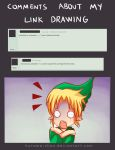 -- Zelda: About comments in my Link drawings -- by Kurama-chan