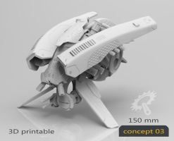 Drone Concept 03-3Dprintable by Iggy-design