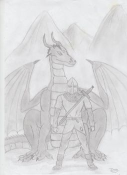 Dragon And Rider by jackalius