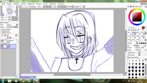 WIP: Theres someone inside the girl by ceilingFlowershot