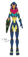 Samus Aran Fusion Suit by D-Arm