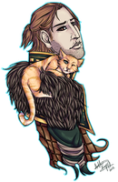 Anders and Ser Pounce-a-Lot Cuddles by VenomousSoliloquy