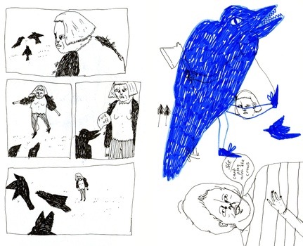 playing with the crows by wolfship
