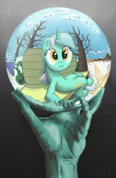 Lyra with Reflecting Sphere by GSphere