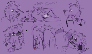 Fsona studies by FourDirtyPaws