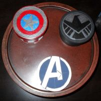 Avengers Themed Boxes by PsifiGirl