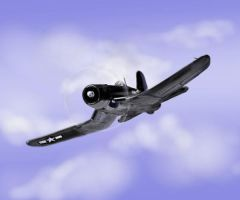 Chance Vought F4U Corsair by davincipoppalag