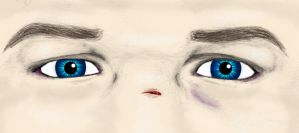 Ellis' eyes by vyvyan1rick