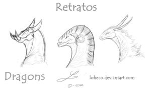 Portraits of  Dragons by Loheco
