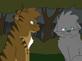 Ashfur and Hawkfrost by Miiroku