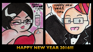 HAPPY NEW YEAR 2016 by ChibiCelina