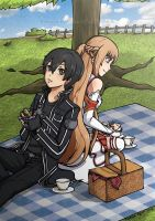 Picnic with Asuna by tsubasahiluxisz