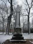 Snow covered monument by Arch-Cosmic
