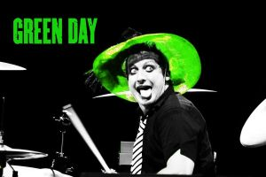 Tre Cool - Green Hat WALLPAPER by 333Miami333