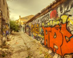 Greece - Athen - Anafiotika Quarter- Graffitis - 2 by GiardQatar