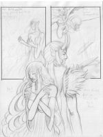A Tragedy of Angels 2 pencils by KamouriKing