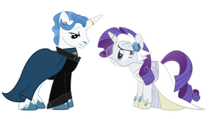Pony Wedding Commission: Fancy Pants x Rarity by Mokrosuhibrijac