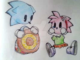 Sonic and Classic Amy - Give a'little by LunaCentre