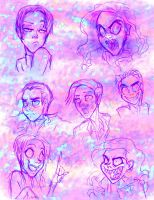 KAD AND KIL COLORFUL SKETCHES by Candys-Killer