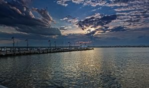 National Harbor Sun Set by Tyler007