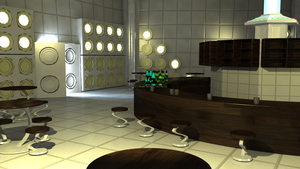 School - The Timey Whimey Bar 3D by issabissabel