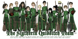 MH Slytherin Quidditch Team by Icecradle