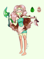 Gemsona Commission - Thulite by minty-red
