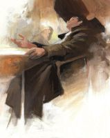 Egil Thompson Leaning Man by theartdepartment