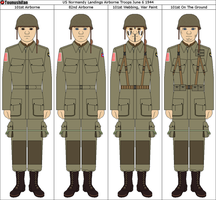101st Airborne M42 (Jump) Uniforms by Grand-Lobster-King