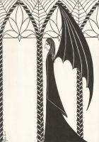 Bat of the Dungeons by pythiadelphi