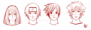 Team Chiyome with monkey faces by xCaeli