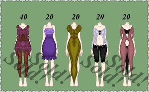 Clothing sheet 1/5 Open by Kat-and-Raven-ADOPTS
